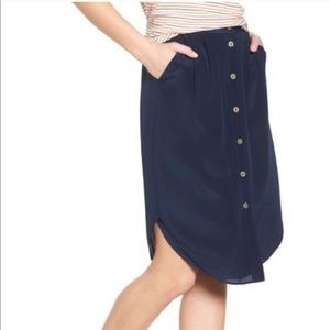 Madewell Silk Skirt XXS NWT